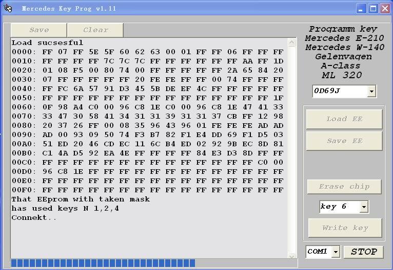 Mercedes Key Programmer v1.11